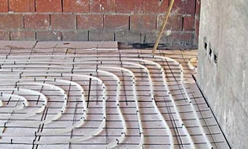 Sistema de calefacción por losa radiante
