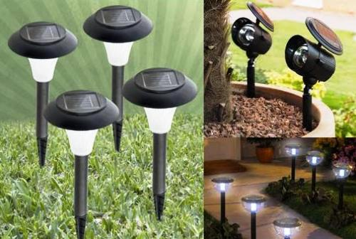 Iluminaci n del jard n con energ a solar ahorro de energ a - Iluminacion jardin sin cables ...